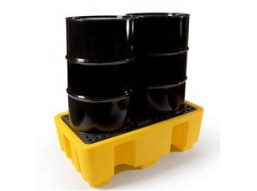 2 and 4 x 210 litre Drum Bunded Spill Pallets